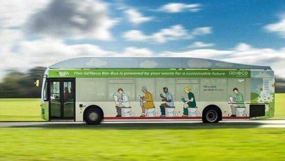 В Британии появился  междугородний автобус, работающий  на фекалиях