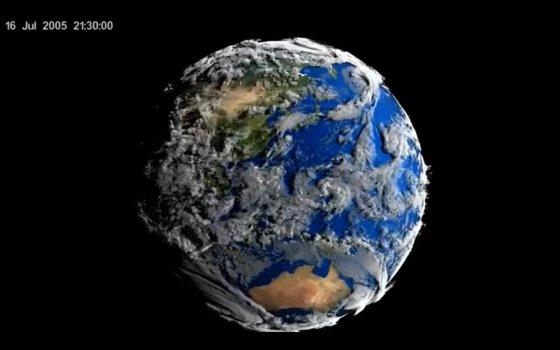 Видео от NASA : живая Земля из Космоса