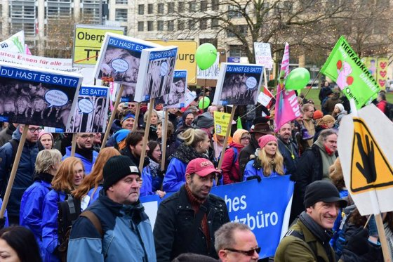 Марш веганов в Берлине 2015