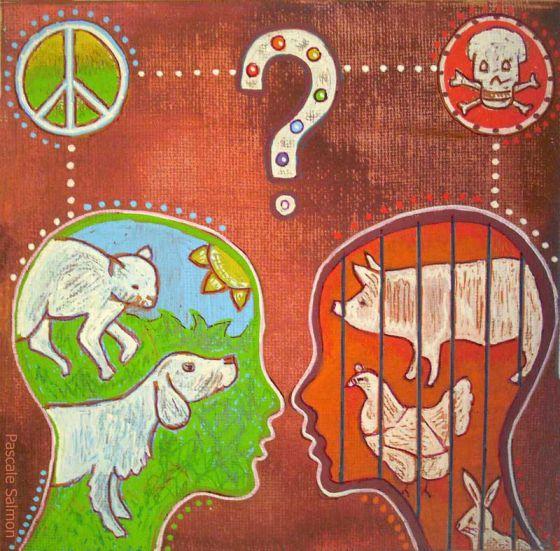 Эволюция  сознания  в картинах французской художницы  Pascale Salmon