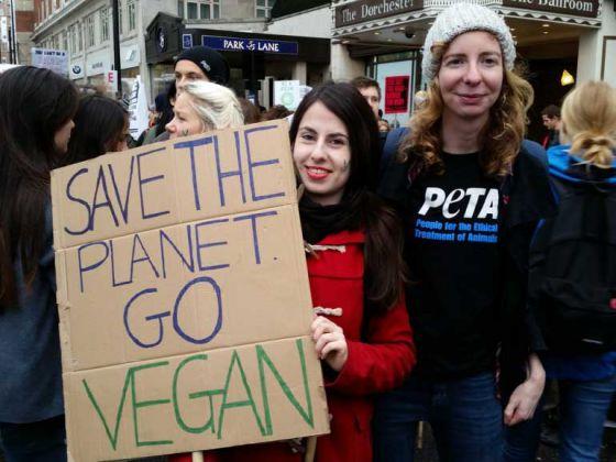 Веганство спасёт планету: активисты из Лондона вышли на акцию по изменению  климата
