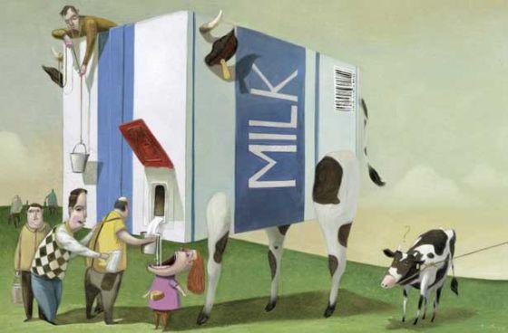 Иллюстрации  Роджера Олмоса  из  книги  для детей «Без слов» с недетским смыслом