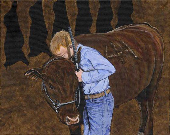 Канадская  активистка за права животных Twyla Francois  пишет замечательные картины