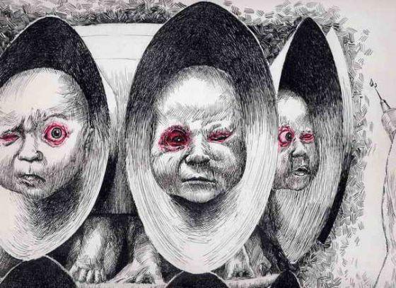 Рисунки Xavier Bayle на тему антиспециецизма