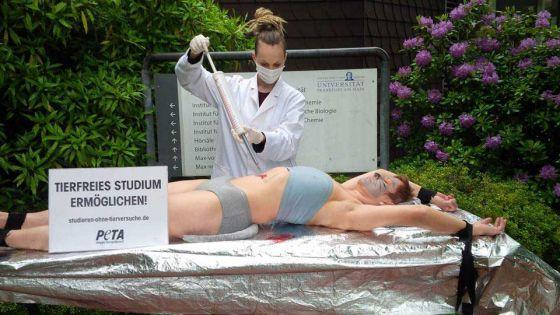 В Германии прошла акция против использования животных в студенческих экспериментах