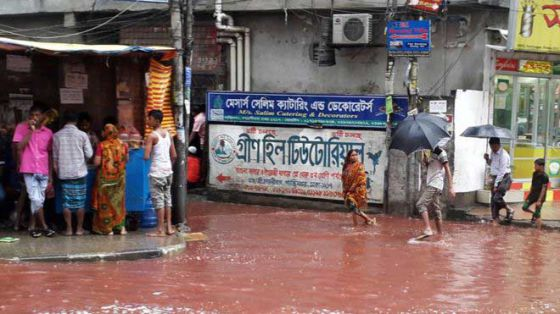Столицу Бангладеш наводнили реки с кровью убитых на Курбан-байрам животных