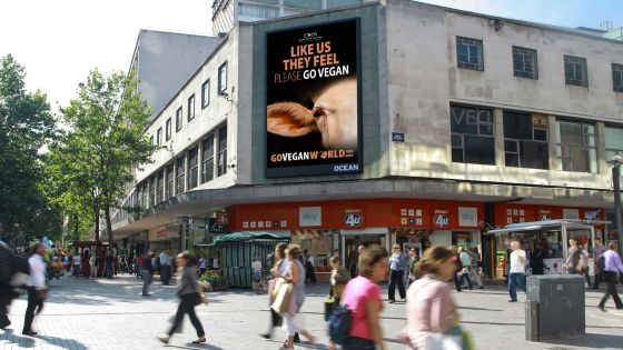 «Go Vegan World»: в Великобритании  прошла рекламная кампания в защиту животных