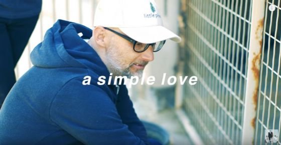 «A Simple Love»: Моби представил  видеоклип  в защиту животных ко  Дню Святого Валентина