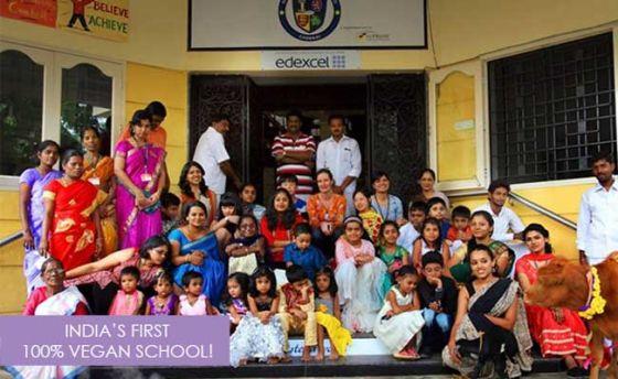 В Индии открылась первая веганская школа