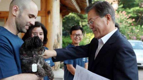 Президент Южной Кореи взял собаку из приюта