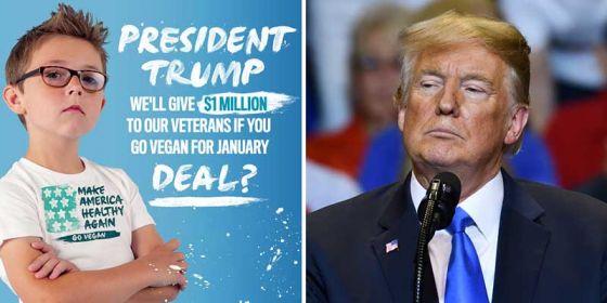 Дональду  Трампу  предложили  стать веганом  на месяц  за 1 миллион долларов