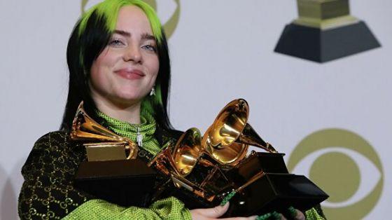 Веганка Билли Айлиш победила во всех основных номинациях «Грэмми»
