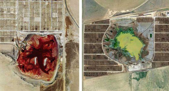Животноводческие фермы со спутников Земли: фото